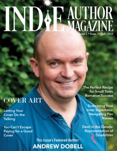 Indie Author Magazine Cover with Andrew Dobell