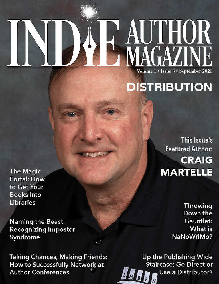 Photo of Craig Martelle on the Cover of Indie Author Magazine
