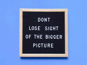 Don't lose sight of the bigger picture